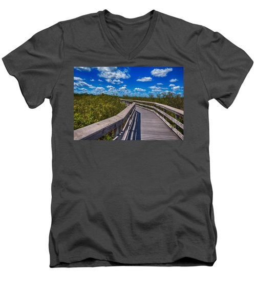 Everglades Trail Men's V-Neck T-Shirt