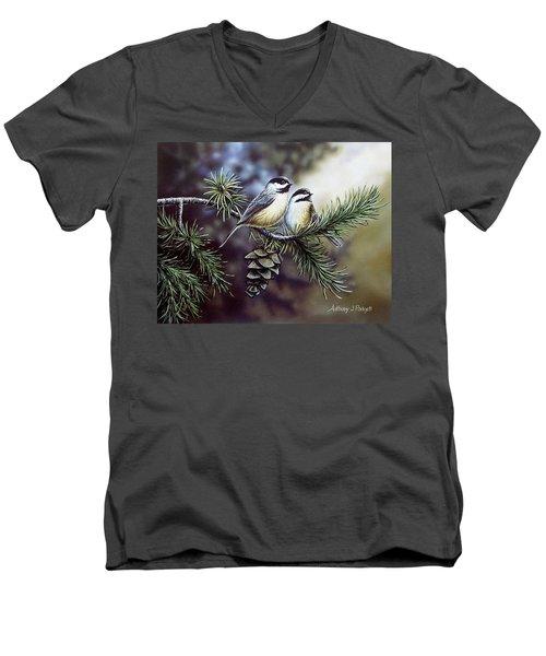 Evergreen Chickadees Men's V-Neck T-Shirt