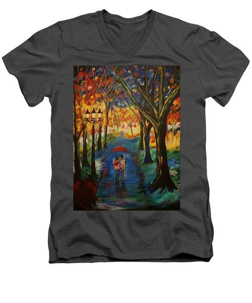 Everlasting Love Men's V-Neck T-Shirt by Leslie Allen