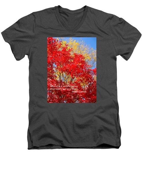 Every Leaf Is A Flower Men's V-Neck T-Shirt by Deborah Dendler