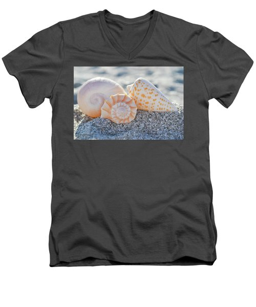 Men's V-Neck T-Shirt featuring the photograph Every Shell Has A Story by Melanie Moraga