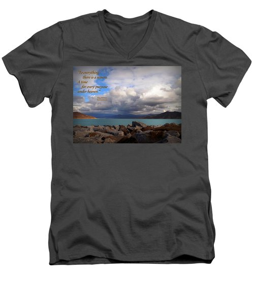Everything Has Its Time - Ecclesiastes Men's V-Neck T-Shirt