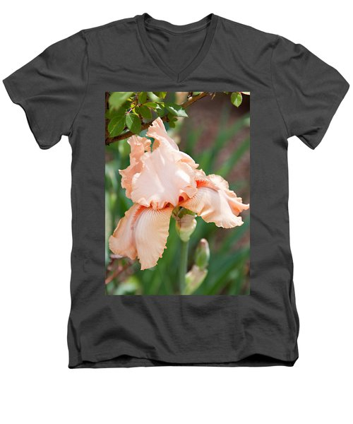 Men's V-Neck T-Shirt featuring the photograph Everything Is Peachy by Sherry Hallemeier