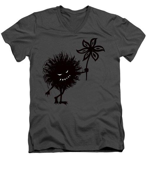 Evil Bug Gives Flower Men's V-Neck T-Shirt