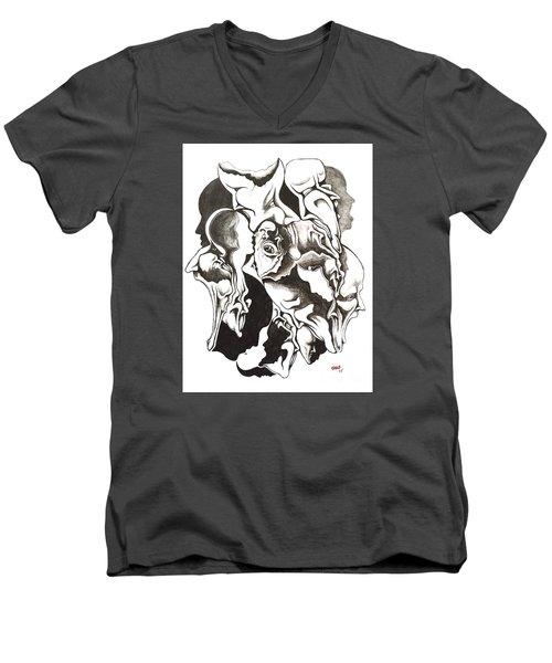 Evolution In Mind  Men's V-Neck T-Shirt by Michael  TMAD Finney