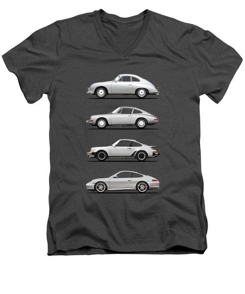 Evolution Of The 911 Men's V-Neck T-Shirt