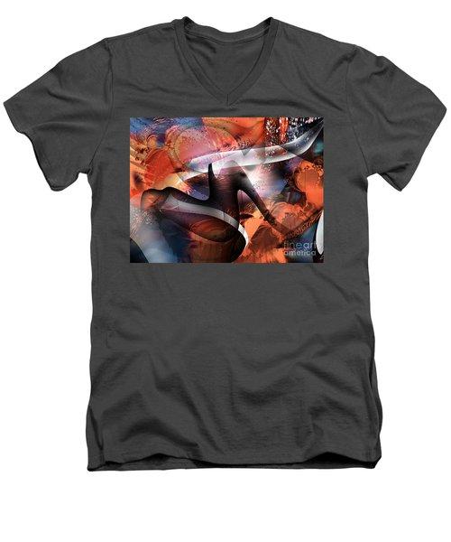 Deliverance Men's V-Neck T-Shirt by Yul Olaivar