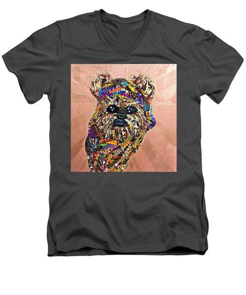 Ewok Star Wars Afrofuturist Collection Men's V-Neck T-Shirt