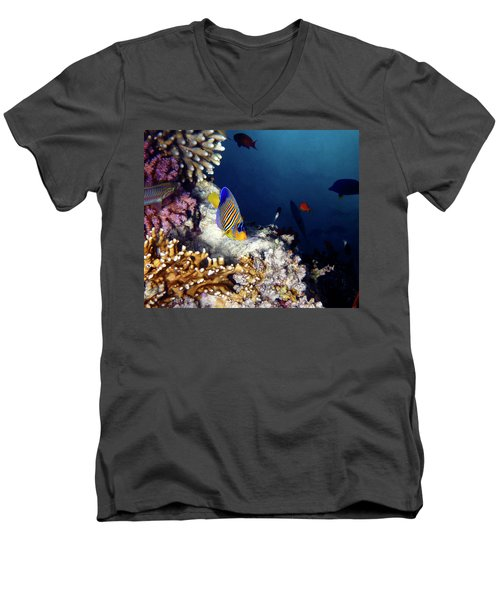 Exciting Red Sea World Men's V-Neck T-Shirt