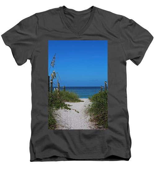 Men's V-Neck T-Shirt featuring the photograph Exclusively Captiva by Michiale Schneider