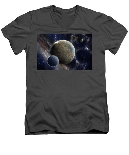 Exosolar Worlds Men's V-Neck T-Shirt
