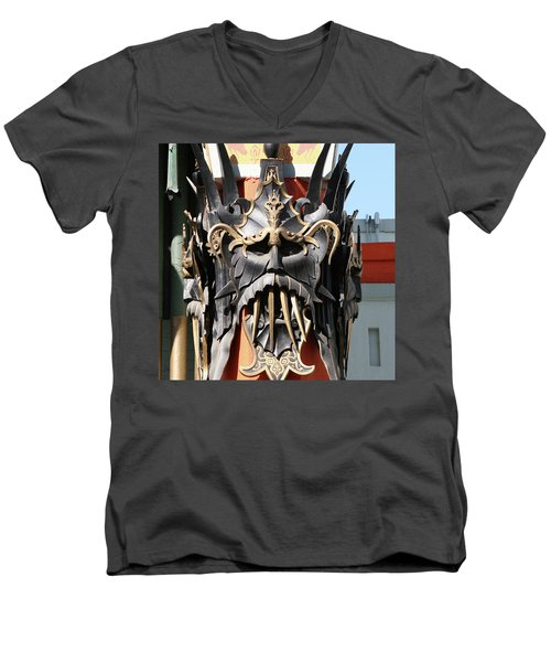 Exotic Chinese Mask Men's V-Neck T-Shirt