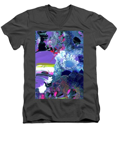 Exotic White Rose Island Men's V-Neck T-Shirt