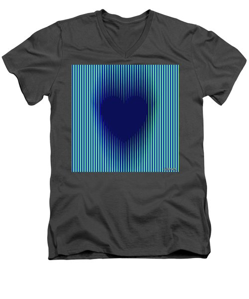 Expanding Heart 2 Men's V-Neck T-Shirt