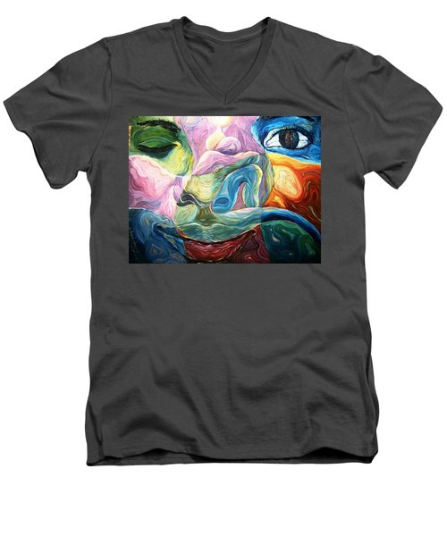 What Seek Ye ? Men's V-Neck T-Shirt by Bankole Abe