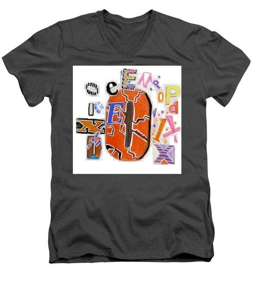 Explode - Tee Shirt Art Men's V-Neck T-Shirt by Mudiama Kammoh