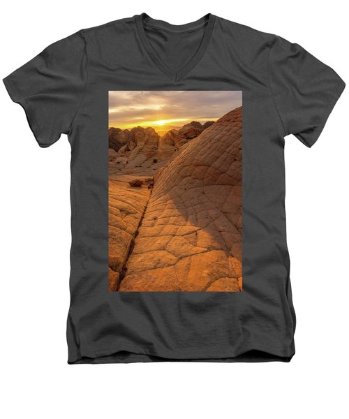 Men's V-Neck T-Shirt featuring the photograph Exploring New Worlds by Dustin LeFevre