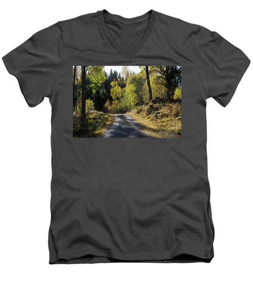 Exploring The Fall Season Men's V-Neck T-Shirt by Kennerth and Birgitta Kullman