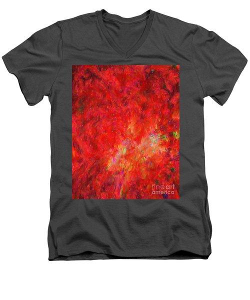 Explosion In Watercolor Men's V-Neck T-Shirt