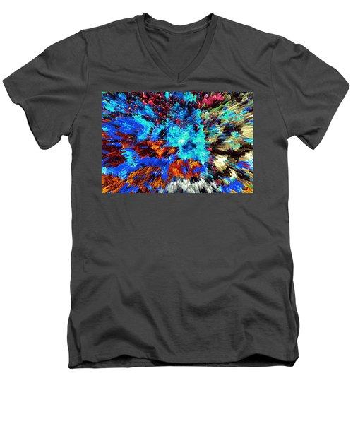 Explosion Of Color Men's V-Neck T-Shirt