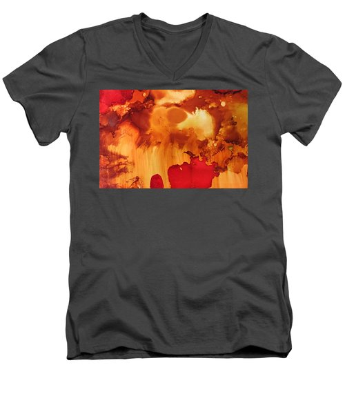 Explosion From The Galaxy Men's V-Neck T-Shirt