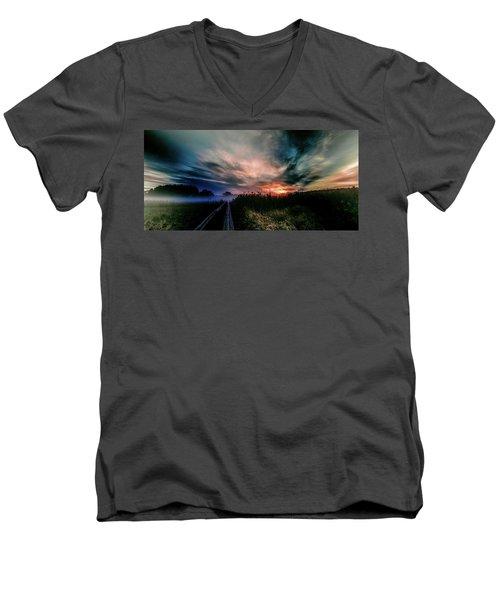 Explosive Morning #h0 Men's V-Neck T-Shirt