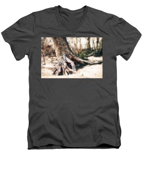 Exposed Men's V-Neck T-Shirt by Robert FERD Frank