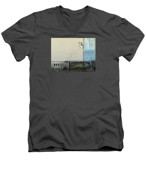 Men's V-Neck T-Shirt featuring the photograph Exterior Decorator by Joe Jake Pratt