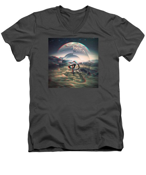 Extinction Men's V-Neck T-Shirt by Jorge Ferreira