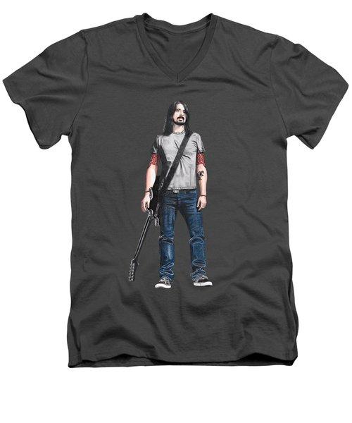 Extraordinary Hero Cutout Men's V-Neck T-Shirt by Steven Hart