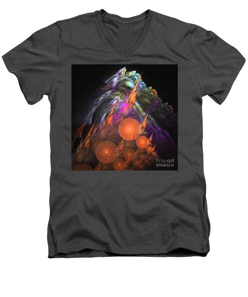 Exuberant - Abstract Art Men's V-Neck T-Shirt