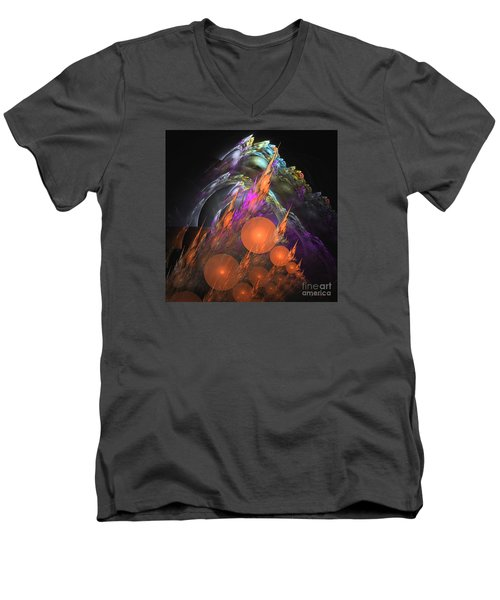 Exuberant - Abstract Art Men's V-Neck T-Shirt