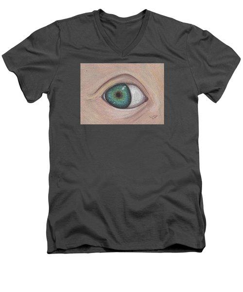 Eye Men's V-Neck T-Shirt by Brenda Bonfield