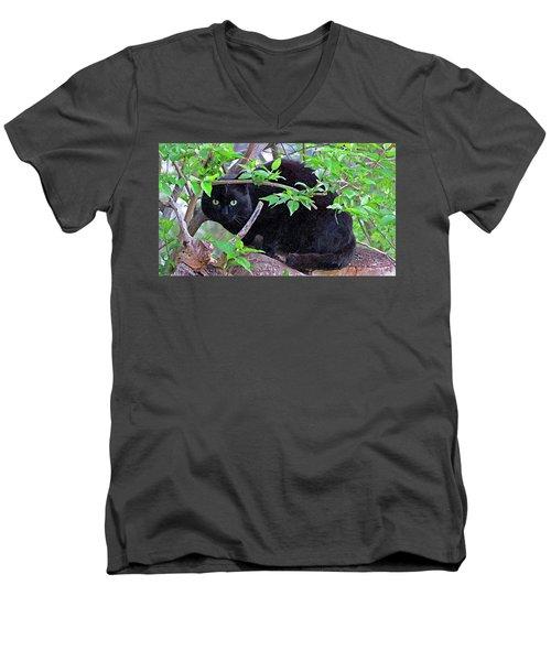 Eye Contact No.2 Men's V-Neck T-Shirt by Sandra Church