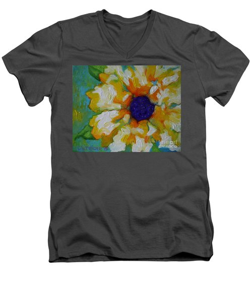 Eye Of The Flower Men's V-Neck T-Shirt by Alison Caltrider