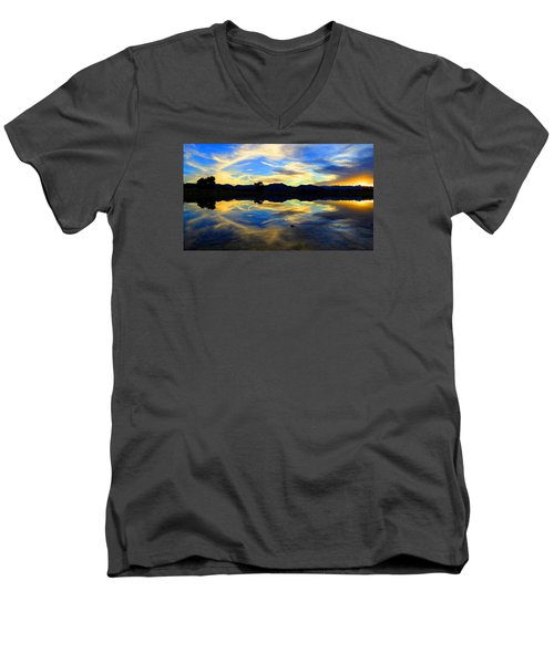 Eye Of The Mountain Men's V-Neck T-Shirt by Eric Dee