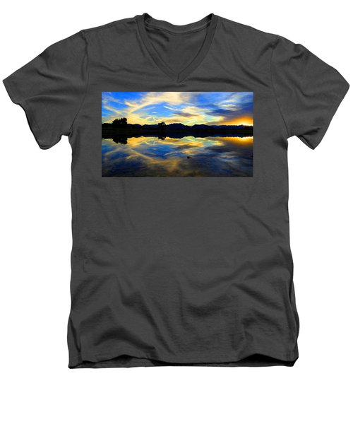 Eye Of The Mountain Men's V-Neck T-Shirt