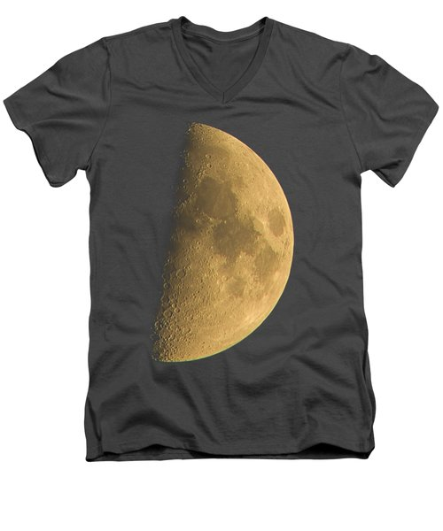 Men's V-Neck T-Shirt featuring the photograph Eye Of The Night by Alexey Kljatov