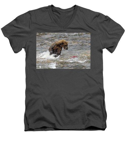 Eye On The Sockeye Men's V-Neck T-Shirt