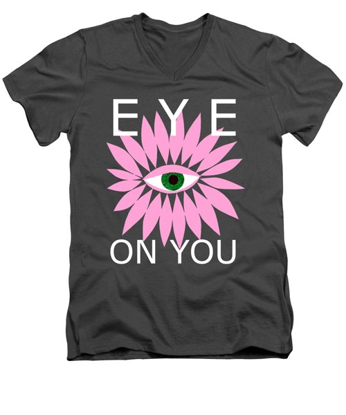 Eye On You - Black Men's V-Neck T-Shirt