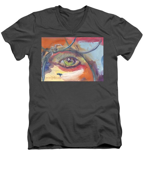 Eye See A Bird Men's V-Neck T-Shirt