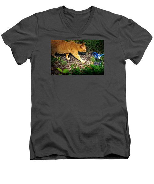 Men's V-Neck T-Shirt featuring the photograph Eye To Eye by Nick Kloepping