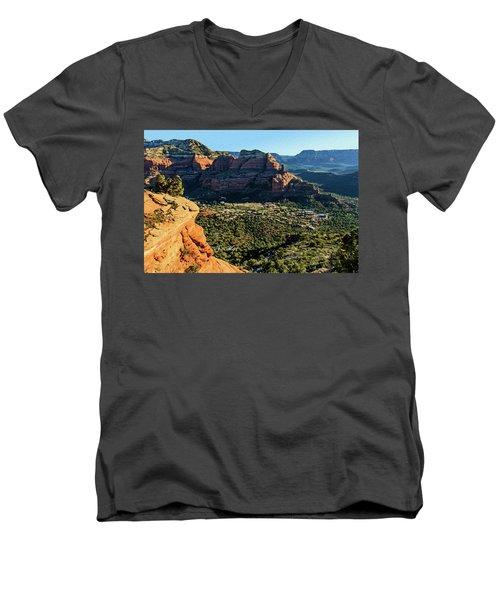 F And B Ridge 07-021 Men's V-Neck T-Shirt by Scott McAllister