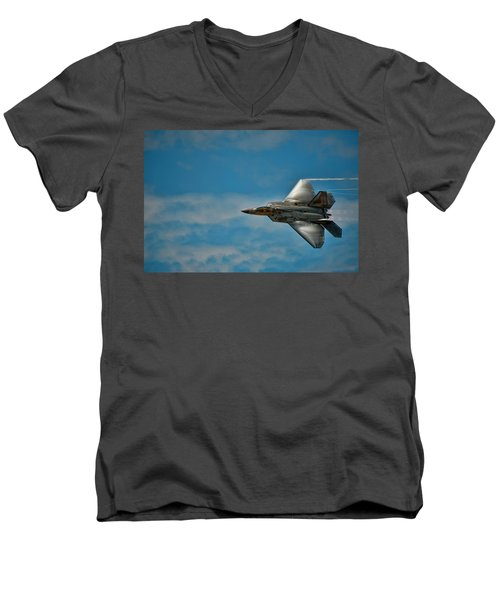 F22 Raptor Steals The Show Men's V-Neck T-Shirt