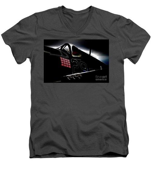 F4u Corsair Six Fifties Sixteen Kills Dark Men's V-Neck T-Shirt