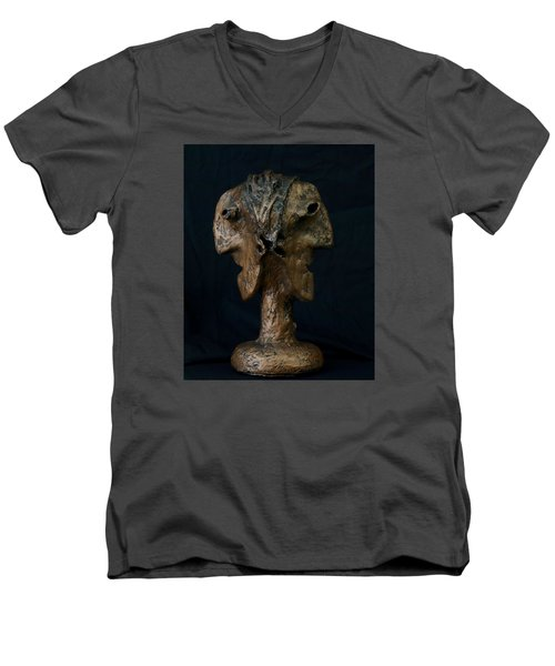 Fabulas Janus Bust  Men's V-Neck T-Shirt