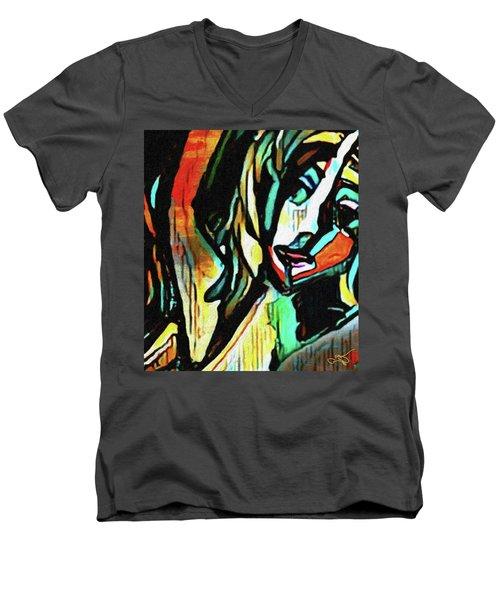 Face #64 Men's V-Neck T-Shirt