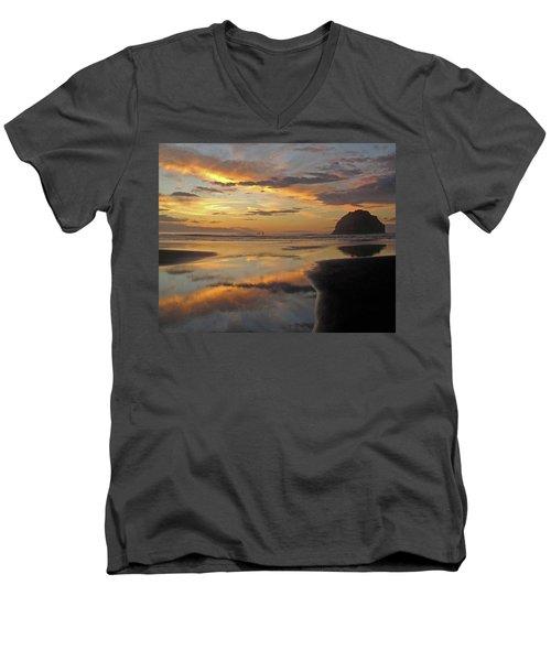 Face Rock Beauty Men's V-Neck T-Shirt by Suzy Piatt