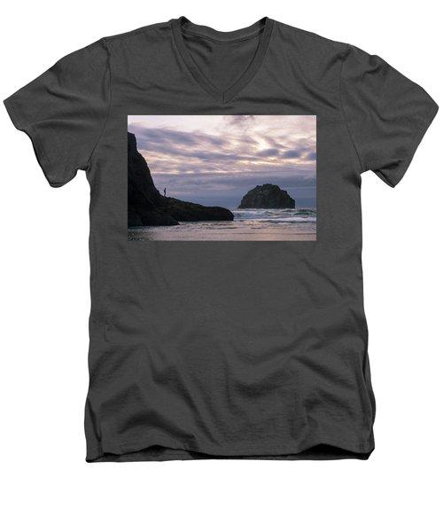 Face Time Men's V-Neck T-Shirt