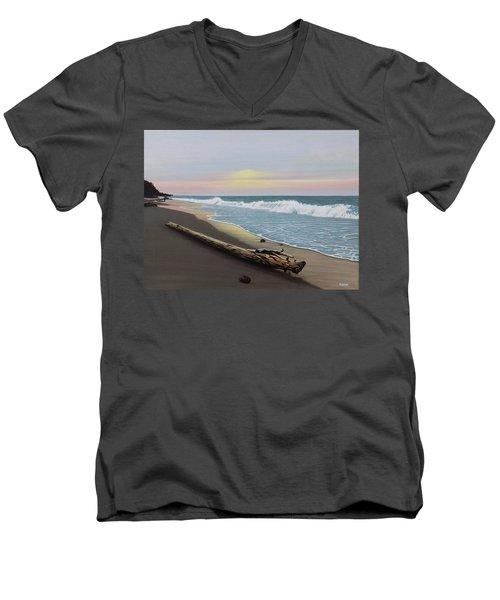 Face To The Morning Men's V-Neck T-Shirt